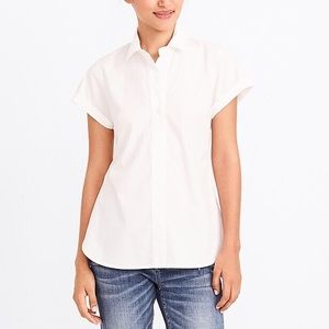 J. Crew Factory Cotton Short Sleeve Popover Shirt